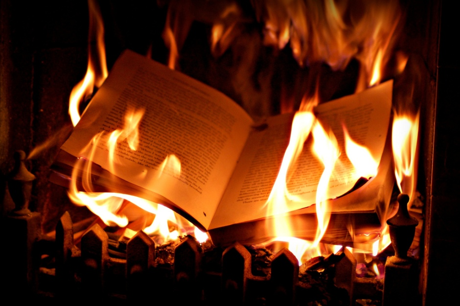 'Where they burn books they will also ultimately burn people.'