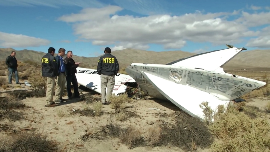 The NTSB inspect the wreckage